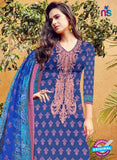 SC 12274 Blue and Pink Embroidered With Digital Printed Pure Lawn Pakistani Suit