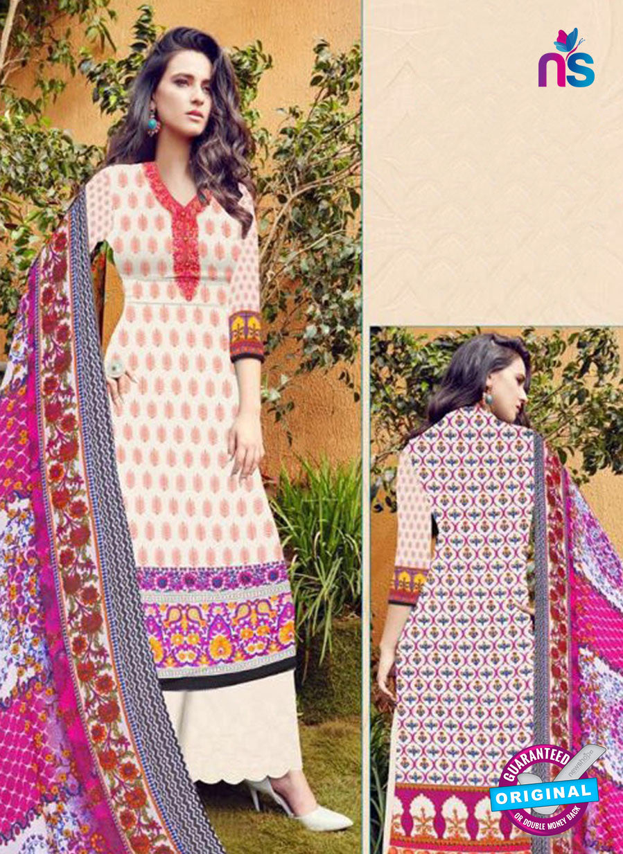 SC 12273 Red and White Embroidered With Digital Printed Pure Lawn Pakistani Suit