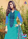 SC 12277 Green and Blue Embroidered With Digital Printed Pure Lawn Pakistani Suit Online