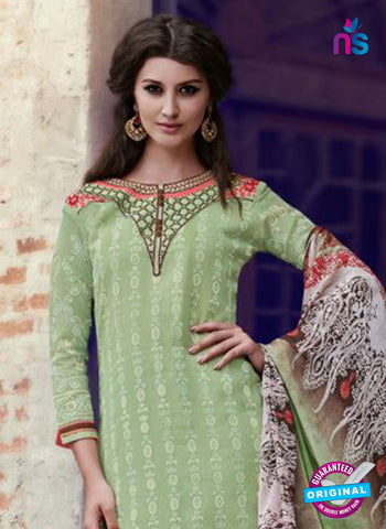 Teazle 1801 - Green & Brown Color Kota Doria Designer Suit Online