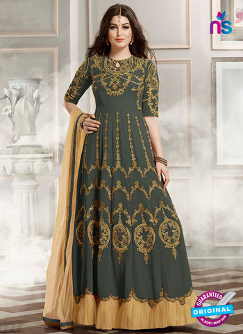 Gulzar 1802 Grey Designer Anarkali Suit