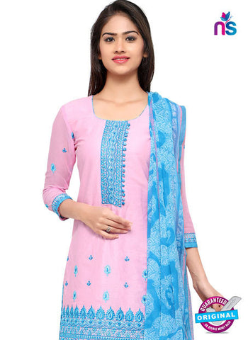 RT 18040 Pink Cotton Suit