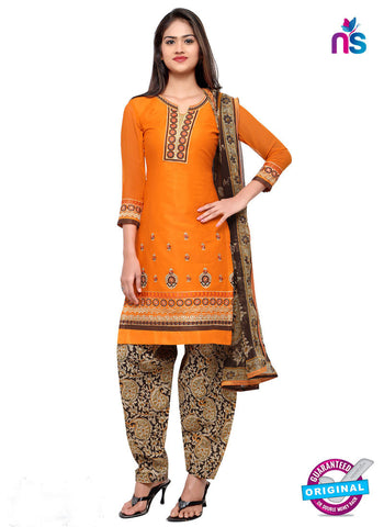 RT 18041 Orange Cotton Suit