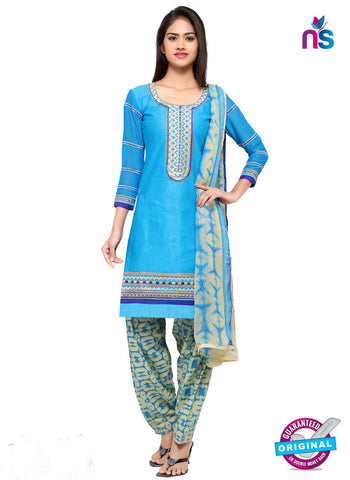 RT 18044 Sky Blue Cotton Suit