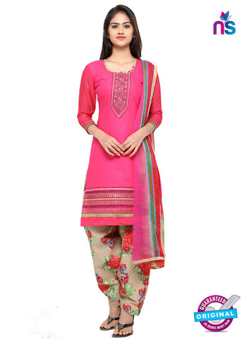 RT 18045 Pink Cotton Suit