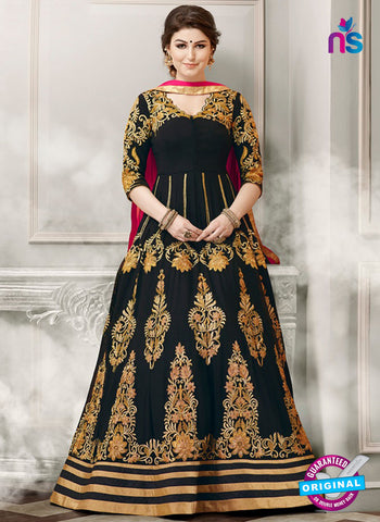 Gulzar 1805 Black Designer Anarkali Suit