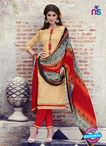 Teazle 1806 - Red & Yellow Color Kota Doria Designer Suit