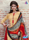 Teazle 1806 - Red & Yellow Color Kota Doria Designer Suit Online
