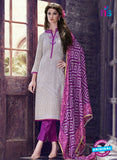 Teazle 1807 - Grey & Purple Color Kota Doria Designer Suit