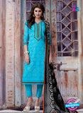 Teazle 1808 - Blue Color Kota Doria Designer Suit