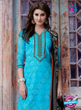 Teazle 1808 Sky Blue Color Kota Doria Designer Suit