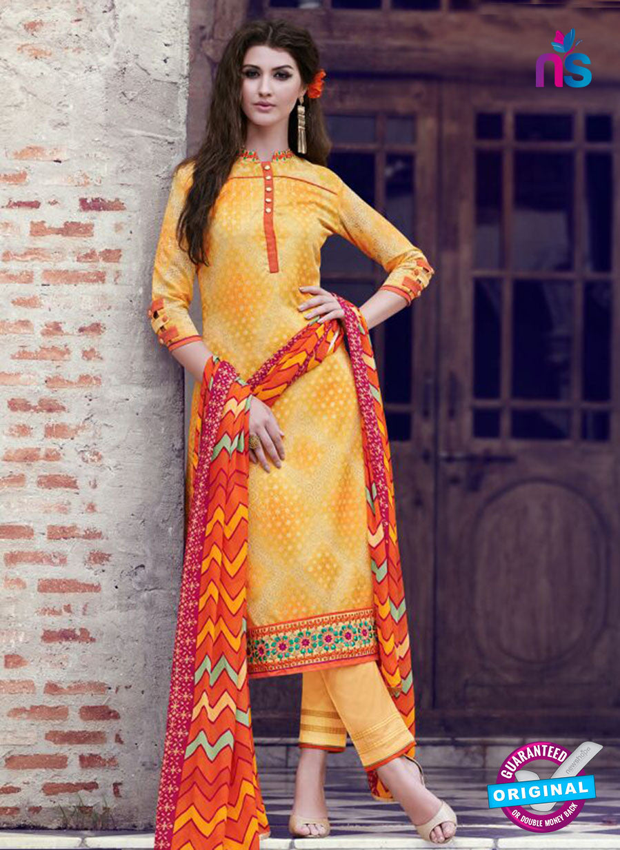 Teazle 1810 - Yellow Color Kota Doria Designer Suit