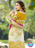SC 12812 Beige and Green Lawn Cotton Printed Designer Suit