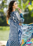 SC 12811 Blue and Grey Lawn Cotton Printed Designer Suit