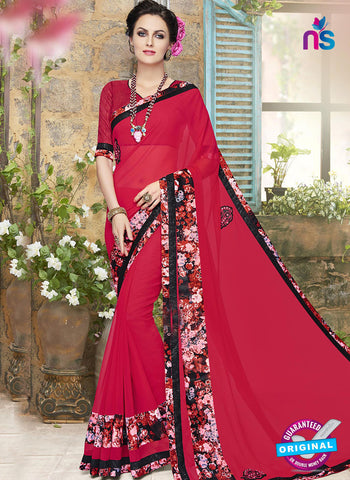 RT 18277 Red Formal Saree