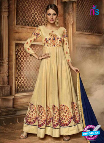 Beige Silk Anarkali Suit
