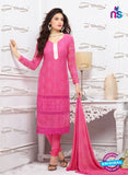SC 13345 Pink Pure Chiffon Straight Suit