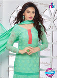 SC 13346 Green Pure Chiffon Straight Suit Online