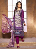 NS11398 A  Purple Color Cotton Designer Suit