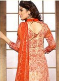 NS11402 B  Orange Color Cotton Designer Suit