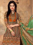 NS11411 B  Beige & Green Color Cotton Designer Suit