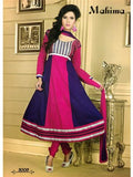 NS11050 Pink and Dark Purple Designer Anarkali Suit