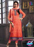NS12256 Peach Straight Suit