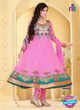 NS10938 Pink and Sea Green Georgette Anarkali Suit