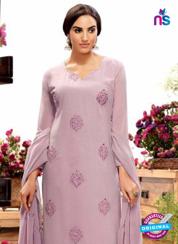 Purple Georgette Designer Straight Suit