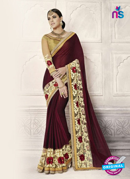 AZ 3889 Maroon Georgette Party Wear Saree