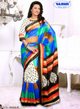 NS11830 A White and Multicolor Cotton Based Saree