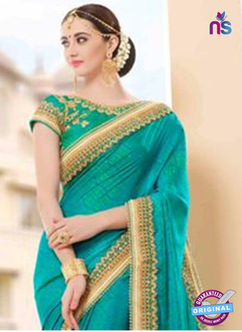 Glossy 19002 Sky Blue Party Wear Saree