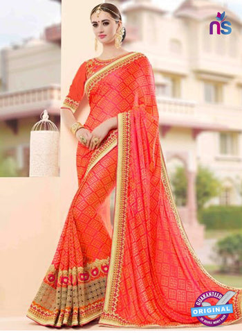 Glossy 19003 Orange Party Wear Saree
