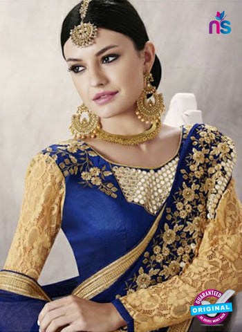 buy Blue Party Wear Saree