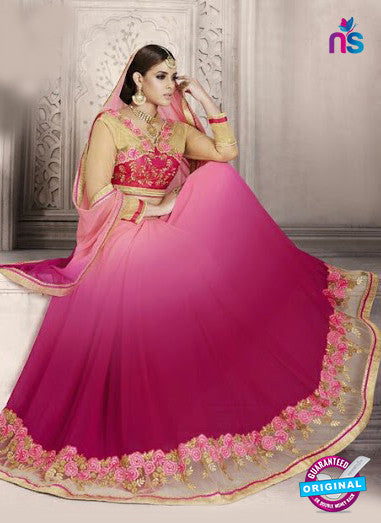 AZ 3892 Pink Georgette Party Wear Saree