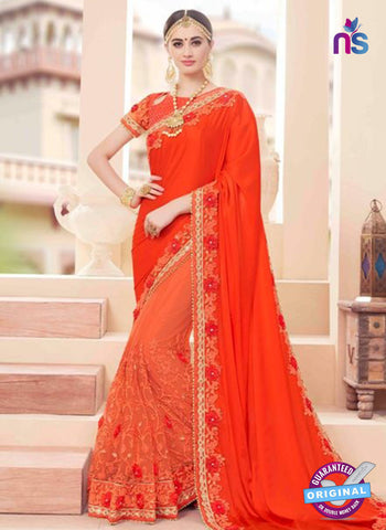 Glossy 19006 Orange Party Wear Saree
