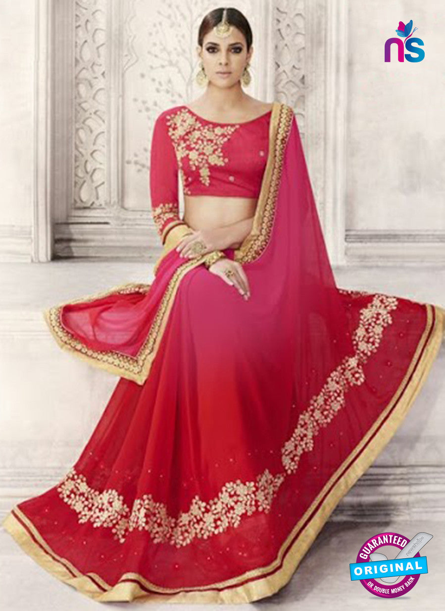 Red Georgette Party Wear Saree