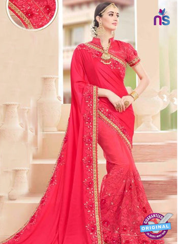 Glossy 19007 Pink Party Wear Saree