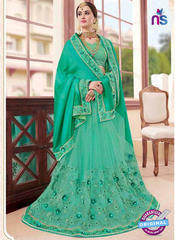 Glossy 19008 Sea Green Party Wear Saree