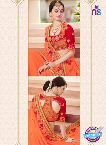 Glossy 19009 Peach Party Wear Saree