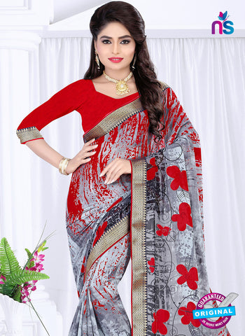 RT 19056 Grey Casual Saree