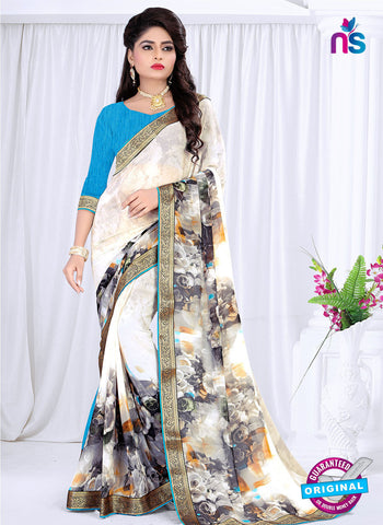 RT 19057 White Casual Saree