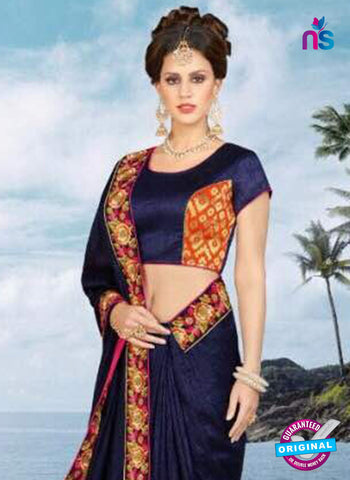 Vibrant 1905 A Blue Party Wear Saree