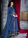 Teazle 1908 Blue Embroidery Lillian Cotton Plazo Suit