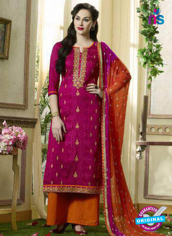 Kessi 1909 Magenta Formal Cotton Suit
