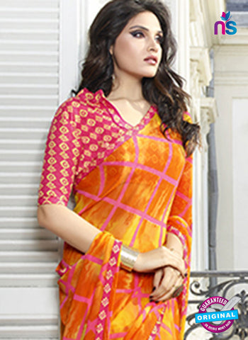 RT 19554 Orange Casual Saree