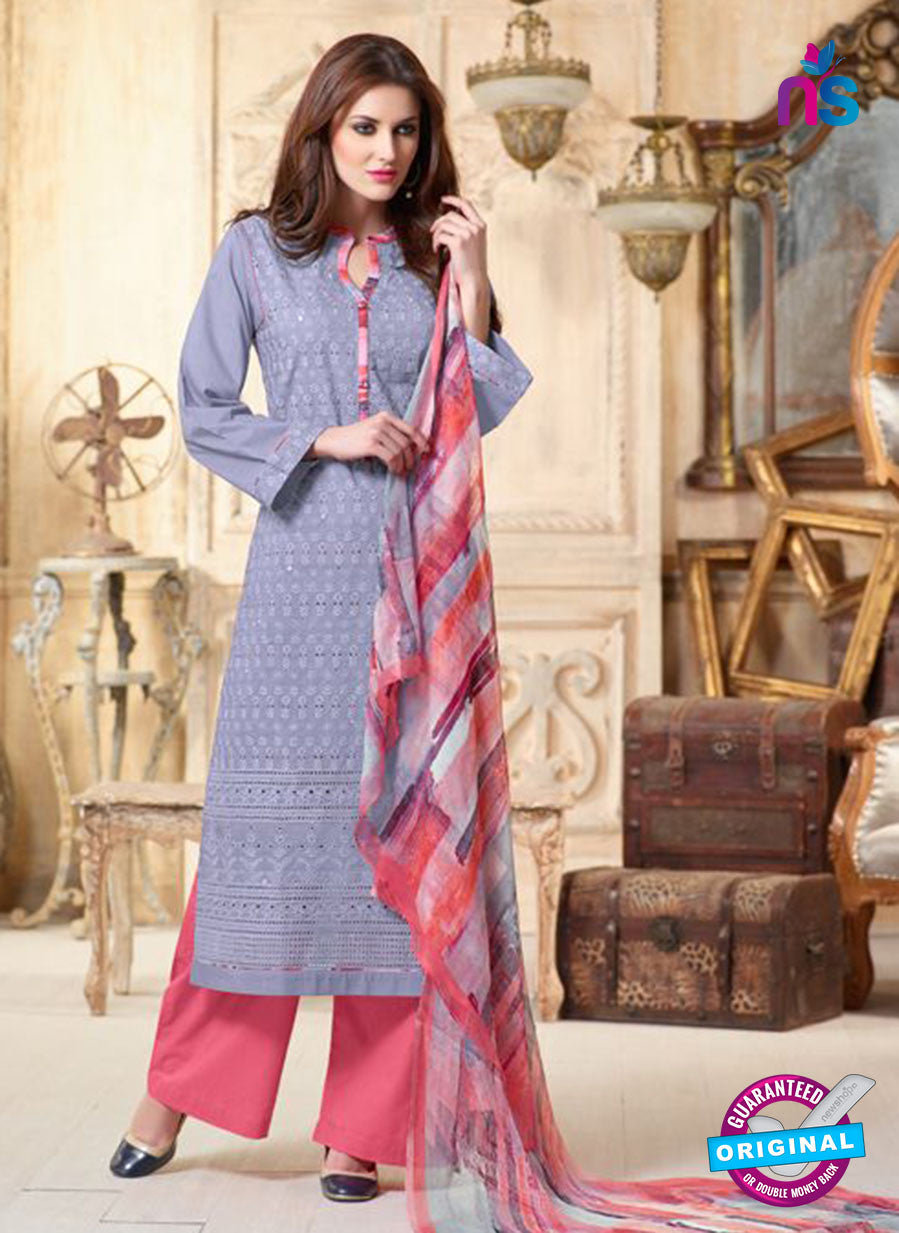 Sahiba 002 Pink and Blue Camric Suit