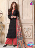 Sahiba 006 Black and Red Camric Suit