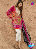 SC 13801 Magenta Lawn Designer Fancy Traditional Plazo Suit