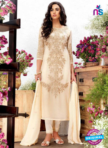 AZ 5243 Off white Georgette Designer Straight Suit